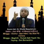 Undangan Pengajian Ustad Khalid Basalamah